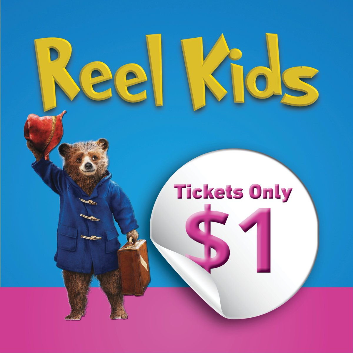 """""""Aunt Lucy said, if we are kind and polite the world will be right"""" Celebrate kindness with your family tomorrow or Thursday at 10 am with PADDINGTON for just $1 !! Tickets on our website.  #midweekmovies #children #paddington2 #summermoviespic.twitter.com/BAHx60Ir4f"""