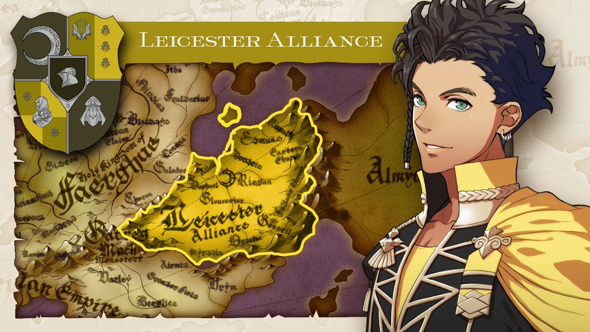 To the east in #FireEmblem: Three Houses, a league of nobles that heeds no king or emperor rules what is called the Leicester Alliance. The Golden Deer represents a sacred creature said to have protected the Leicester Alliance territory since the dawn of time.