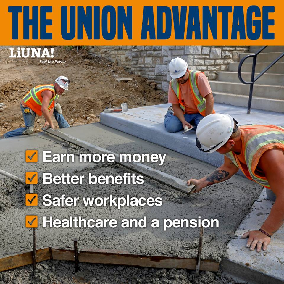 From pay to training to retirement, LIUNA members live better. #1U <br>http://pic.twitter.com/uTNoYZWYtB