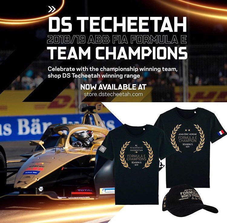 Ooh so excited about this! @DSTECHEETAH have just announced that the team championship/JEV championship merchandise is now up on their store! @JeanEricVergne #JeanEricVergne #DSTecheetah #ABBFormulaE #JEV25   https://store.dstecheetah.com/collections/all?page=1…