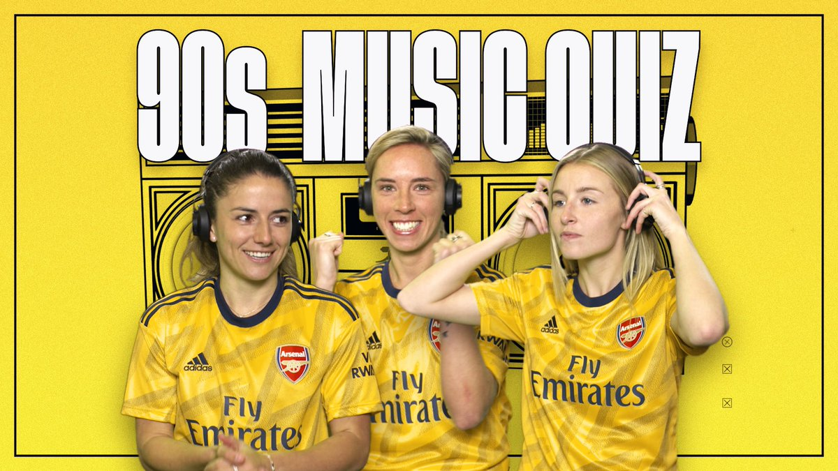 🎶 NAME THAT TUNE | @DanielleDonk, @JordanNobbs8 and @LeahcWilliamson go head-to-head   A '90s themed quiz for our '90s themed kit 😎
