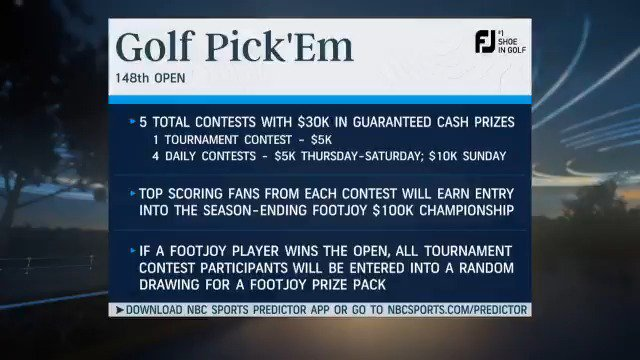 Not playing in #TheOpen at Royal Portrush? No worries! You can still win some serious cash 💰 Our @GeorgeSavaricas is here to explain all the ways you can win by playing this weeks @FootJoy #GolfPickEm.