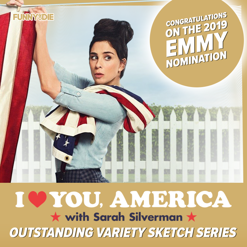 Congratulations @SarahKSilverman on the Emmy nomination for 'I Love You America'!