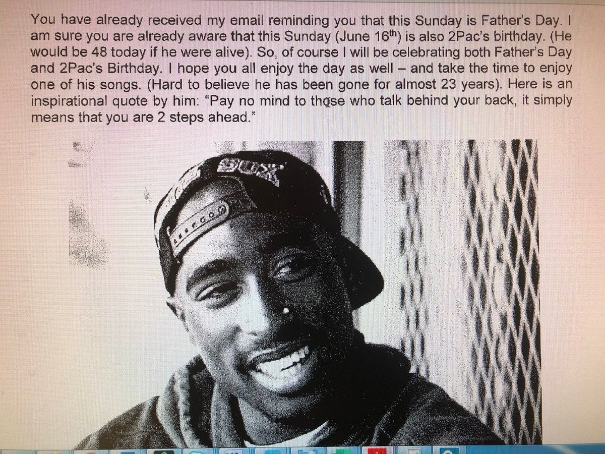 An Iowa man might have been fired for his love of rapper Tupac Shakur - Los Angeles Times