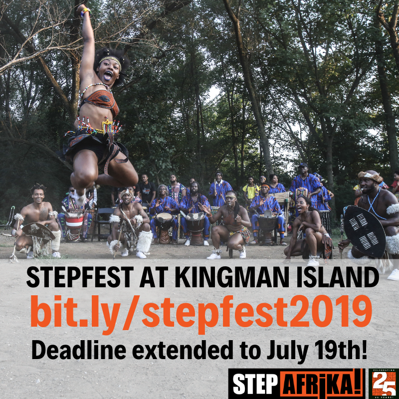 The deadline has been extended! The application for artists to perform at #StepFest @ Kingman Island will remain open until Friday! #StepAfrika #StepXplosion #Allcall #CallForArtists #DMVArtists #DMVArts #DCarts #DCArtists #dcdance #dcmusic