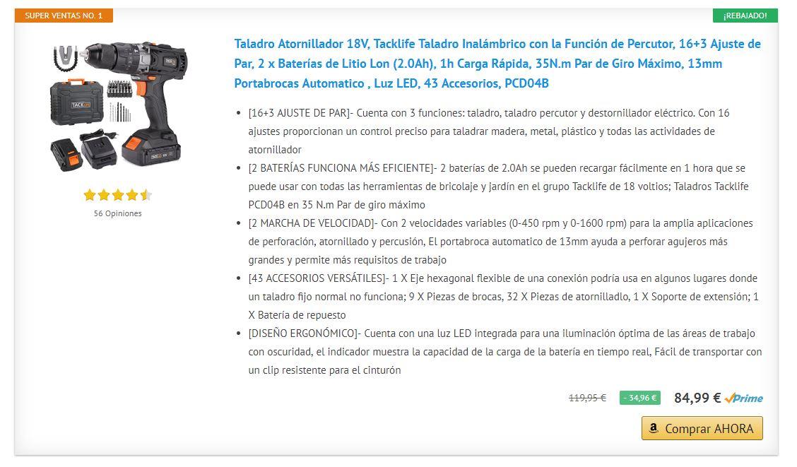 ¿Quieres comprar un #taladro eléctrico? Descubre los #superventas de #amazon http://mtr.cool/tahsfaaztu #taladroselectricos #bateria #bricolaje  #bosch Excepcionales taladros a precios #rebajados