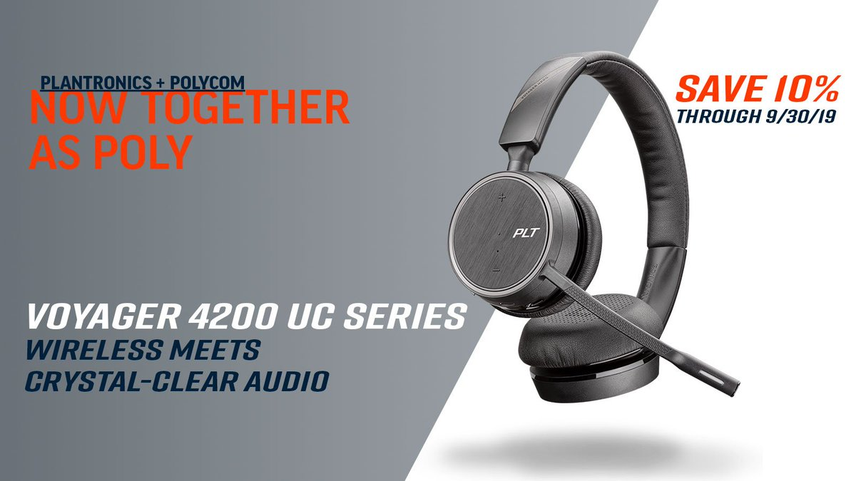 Check out our latest #promotions on Poly headsets including the Voyager 4200! https://www.calloneinc.com/poly-promotions/… #Headsets #Tech #Deals