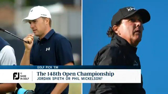 2017 champ Jordan Spieth vs. 2013 champ Phil Mickelson: Which one are you taking at @TheOpen? Download the @NBCSports Predictor App to play #GolfPickEm. Heres our expert picks presented by @FootJoy.