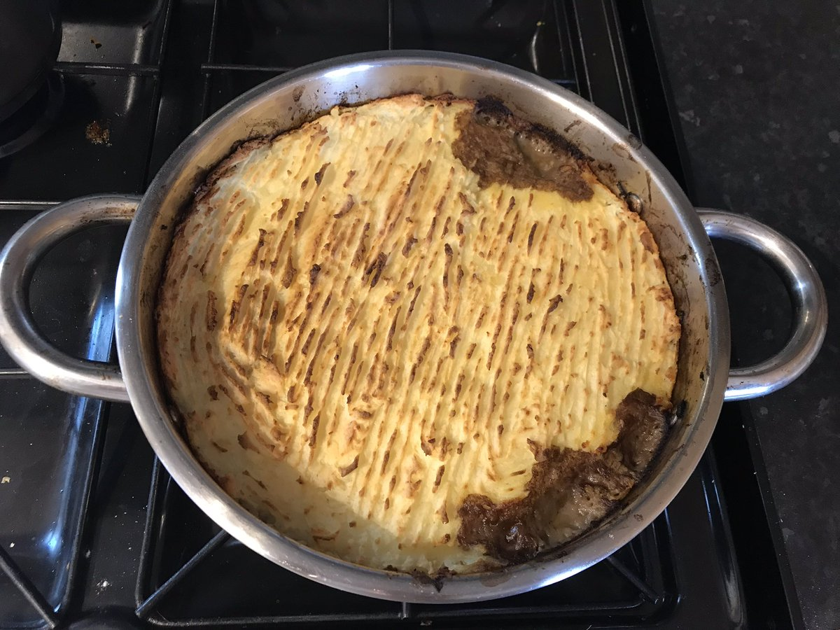 Cottage pie, despite million degree weather, because sometimes only mash will do.