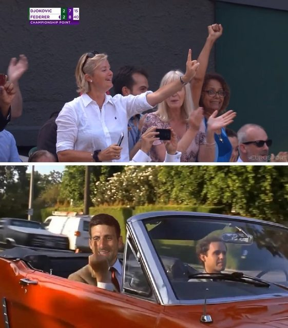 Sit the f*ck down #Wimbledon <br>http://pic.twitter.com/XHZrMC0Ime