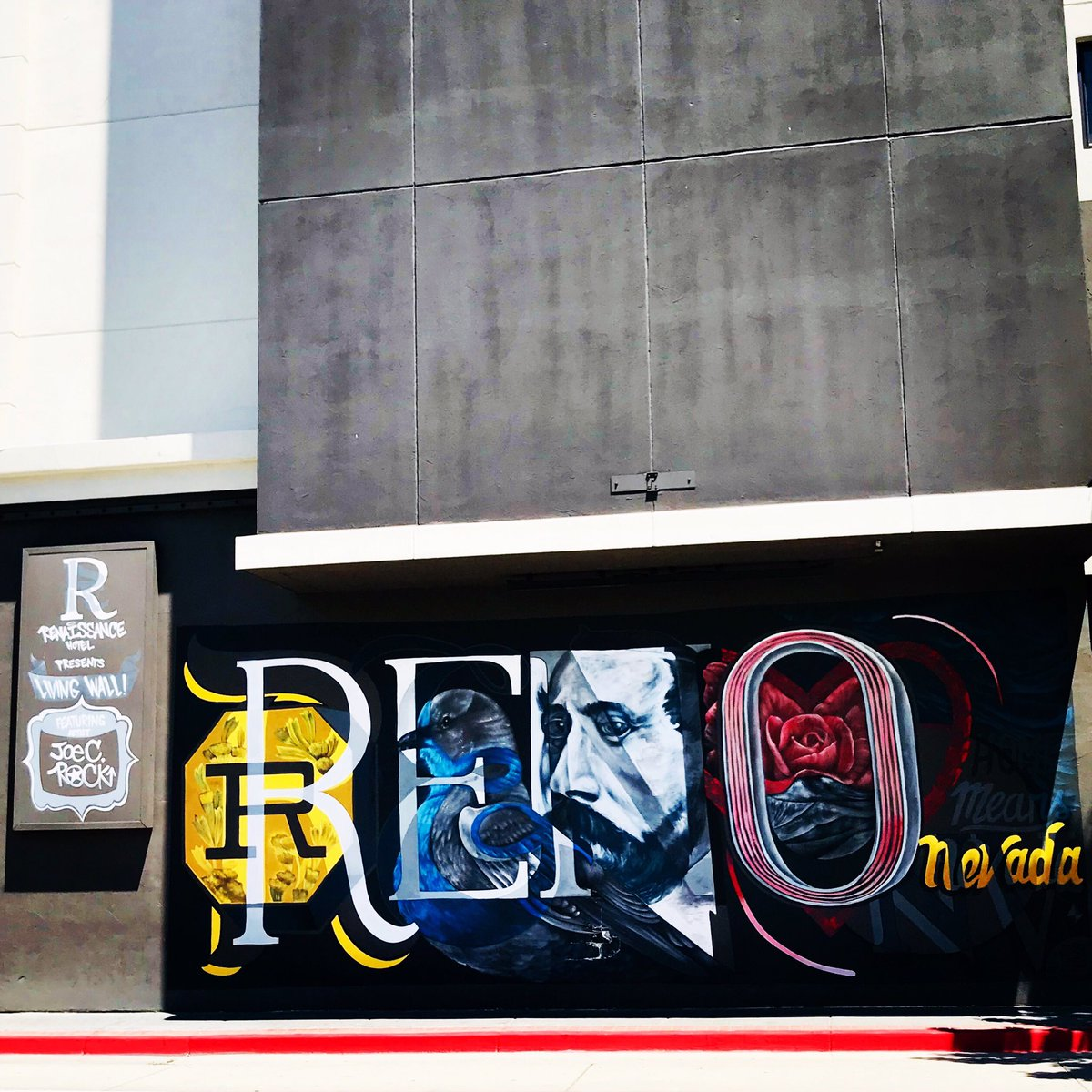Reno has a wonderful program encouraging artists to create murals throughout the city!  There's barely a blank wall to be seen anywhere!!!  #reno #renoart #mural #yourock #streetart #streetartist #instadaily #graffart #instagraffiti