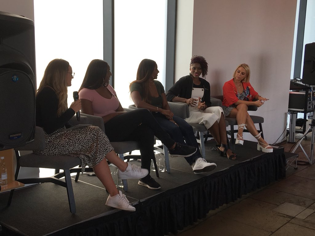 The @BBC Netballers podcast in conversation in front of a live audience with @_bettsglover, @Sasha_Corbin, @Kadeen_Corbin, @amaagbeze and @gabbydawnallen at @tateliverpool.  #ChangeTheGame