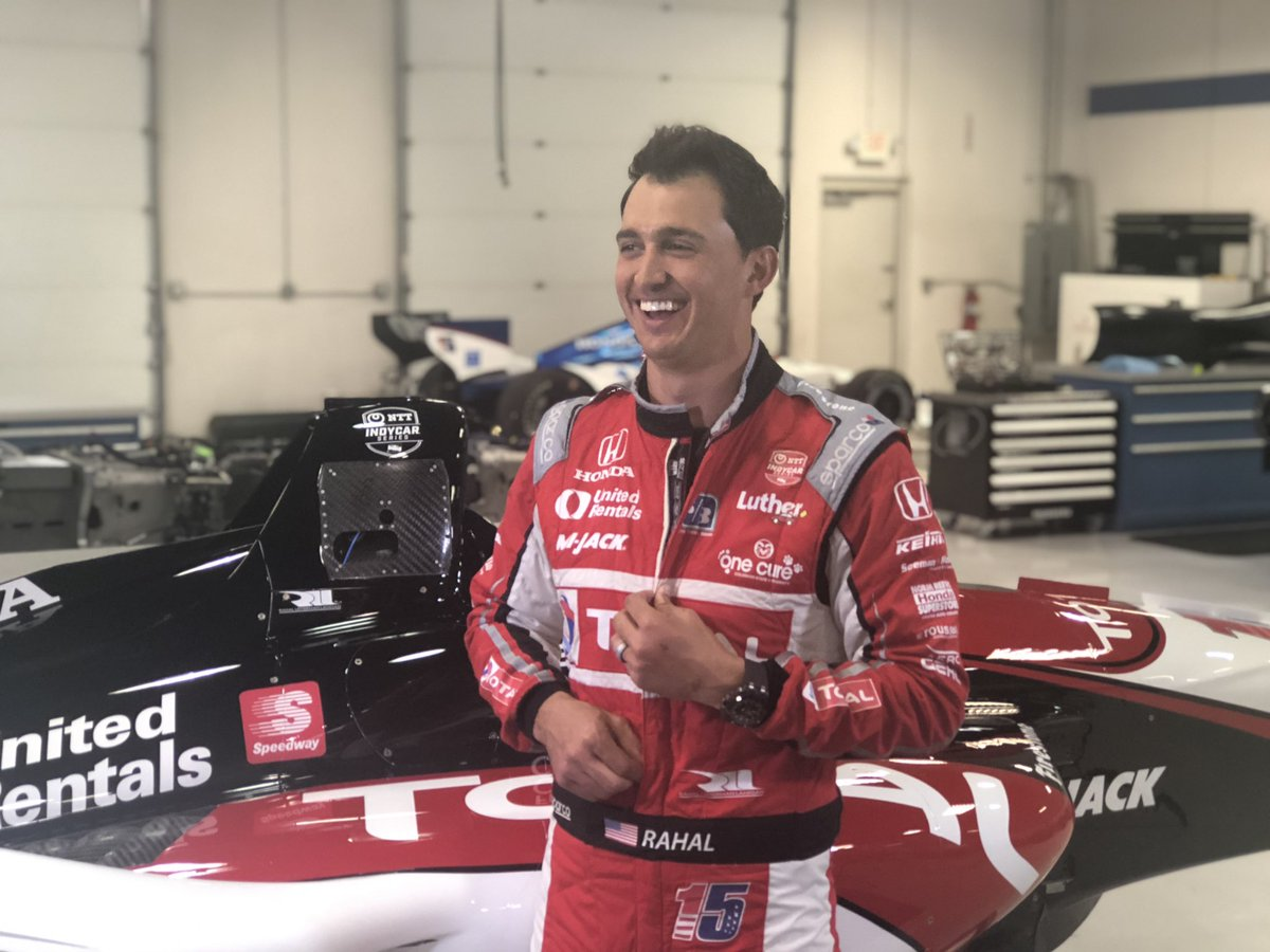 .@GrahamRahal is filming some upcoming content for @TOTALUSA. Be on the lookout for it. 🏎👀 #TotalQuartzInnovation #indycar
