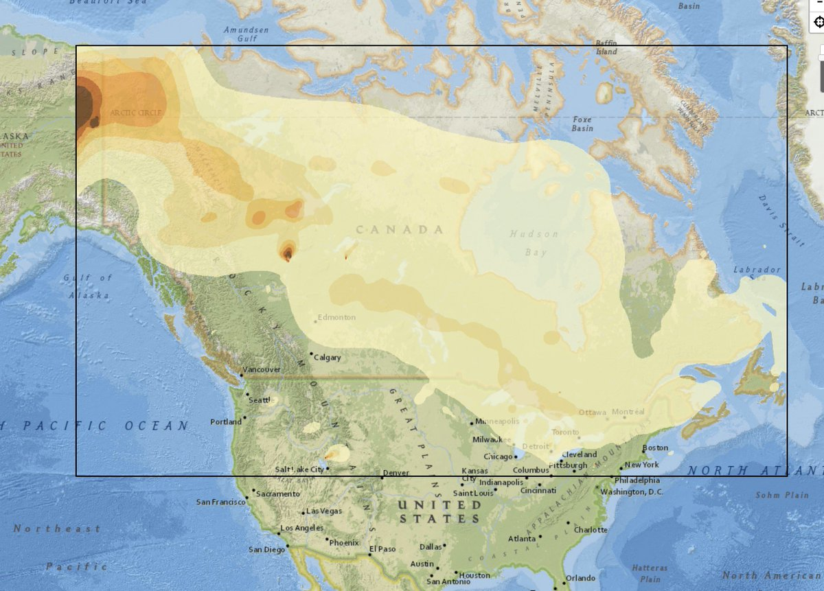 Map Of Canada Today.Wildfire Today On Twitter Map From Canada Predicts The