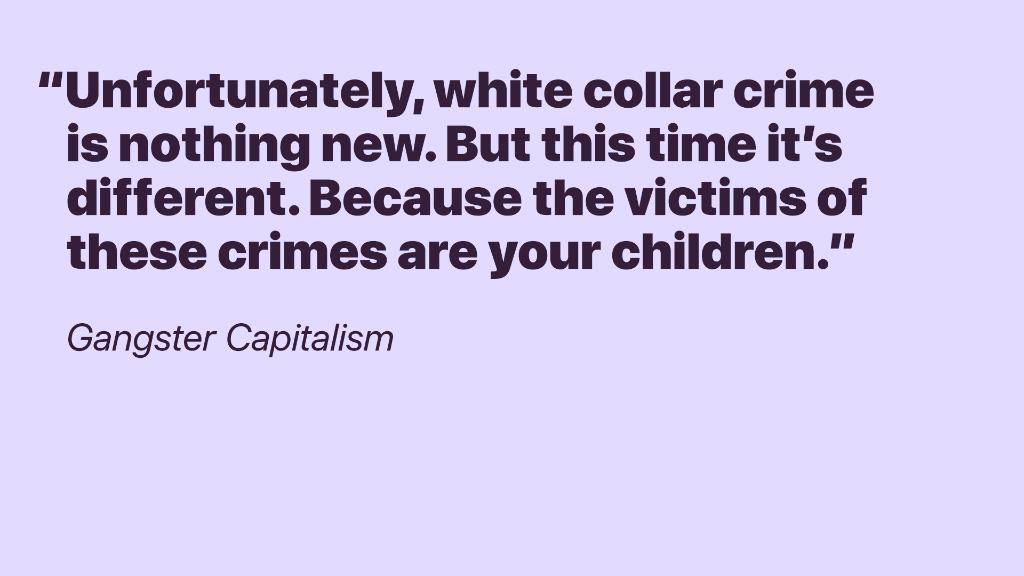 Go behind the college admissions scandal with @AndrewJenks in #GangsterCapitalism. apple.co/GangsterCapita…