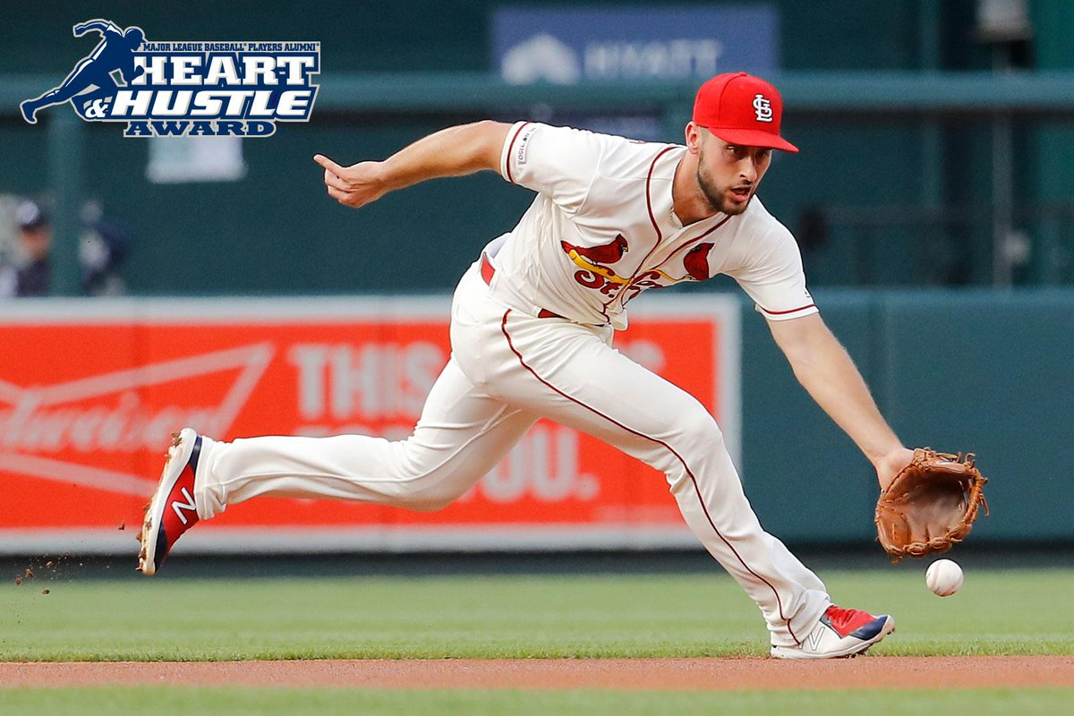 Congratulations to @RealPaulDeJong on being named our 2019 #HeartandHustle Award recipient!