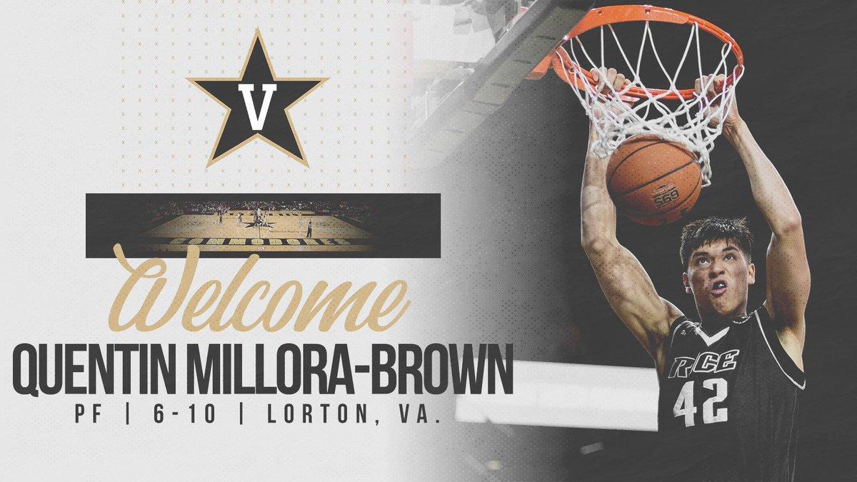Quentin Millora-Brown transfers to Vanderbilt after a stellar freshman season at Rice.  Welcome to Nashville Quentin!  http://vanderbi.lt/5xmdy  #AnchorDown