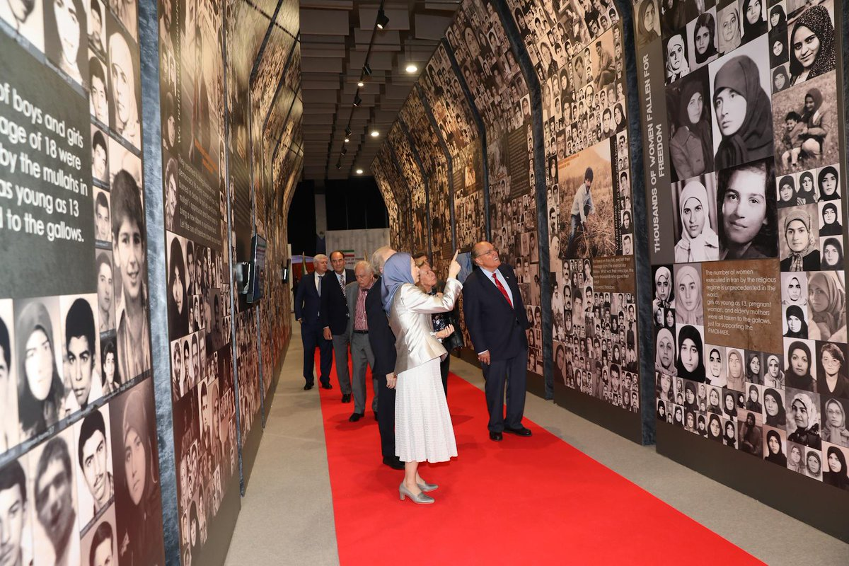 Maryam Rajavi, the President-elect of the NCRI, and international dignatries visit a museum, dedicated to the fallen heros of the Iranian Resistance, in Ashraf 3, Albania, on July 12, 2019. #Ashraf3 #HumanRights @Maryam_Rajavi