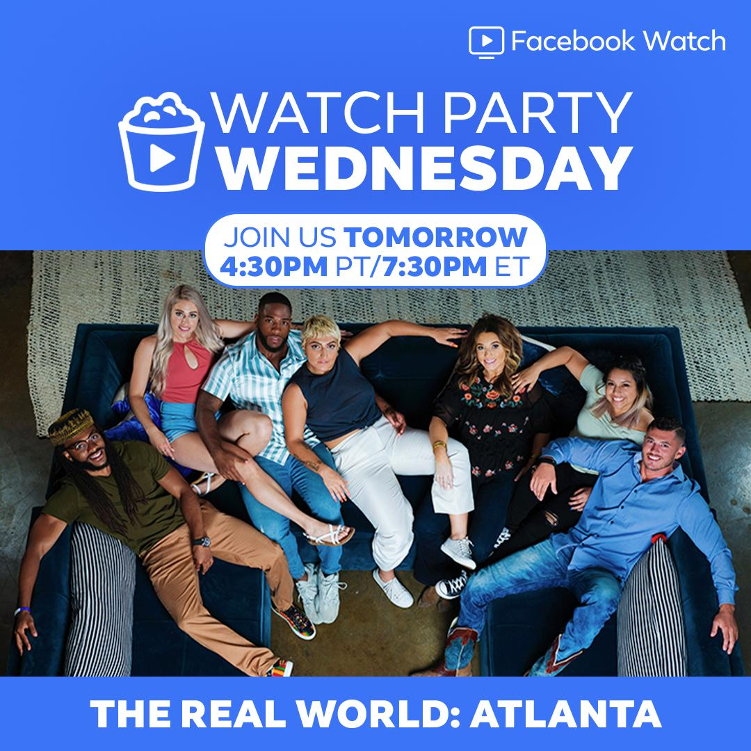 Tuesday's got us in the mood to binge 📺 Join us for our #RealWorldAtlanta Watch Party tomorrow at 4:30pm PT. http://www.facebook.com/pg/realworldonwatch/…
