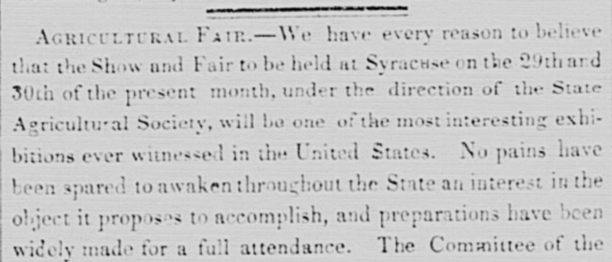 FUN FACT: #DYK the first state fair was held in New York State in 1841? #ChronAmParty #GoesToTheFair chroniclingamerica.loc.gov/search/pages/r…