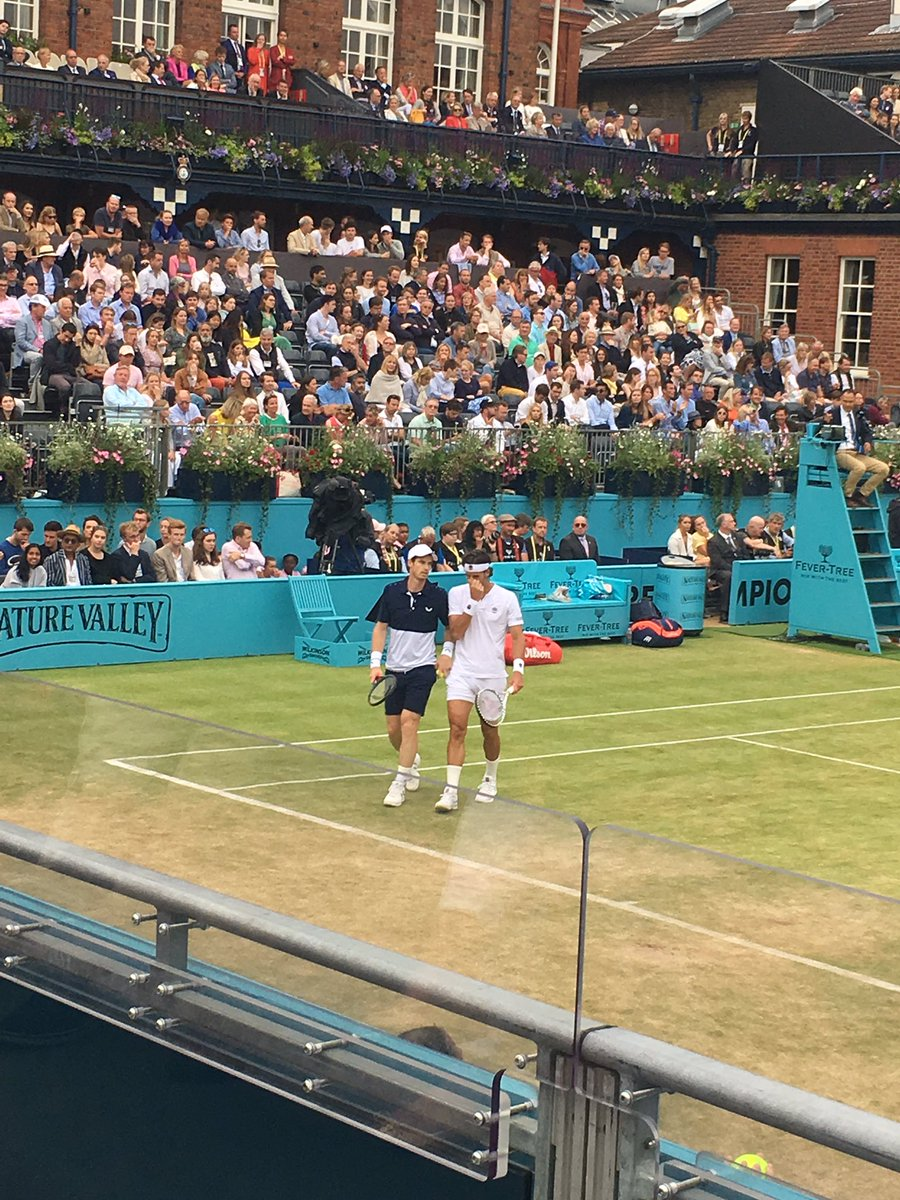 I've managed days at those three tourneys too plus Roehampton qualies. It's been rather wonderful, especially seeing both Jamie & @andy_murray play at Queens. That doubles final was special.<br>http://pic.twitter.com/VFrinIIsKc
