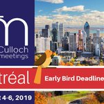 Image for the Tweet beginning: Early Bird deadline for #TMM2019