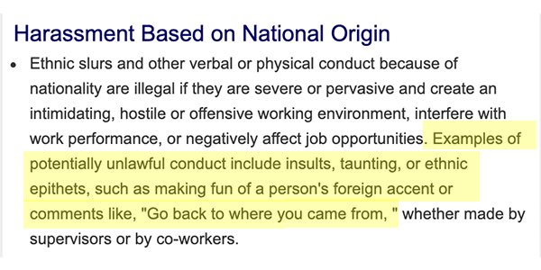 "Trump tweet: EEOC says ""Go back to where you came from"" may violate federal anti-discrimination laws"