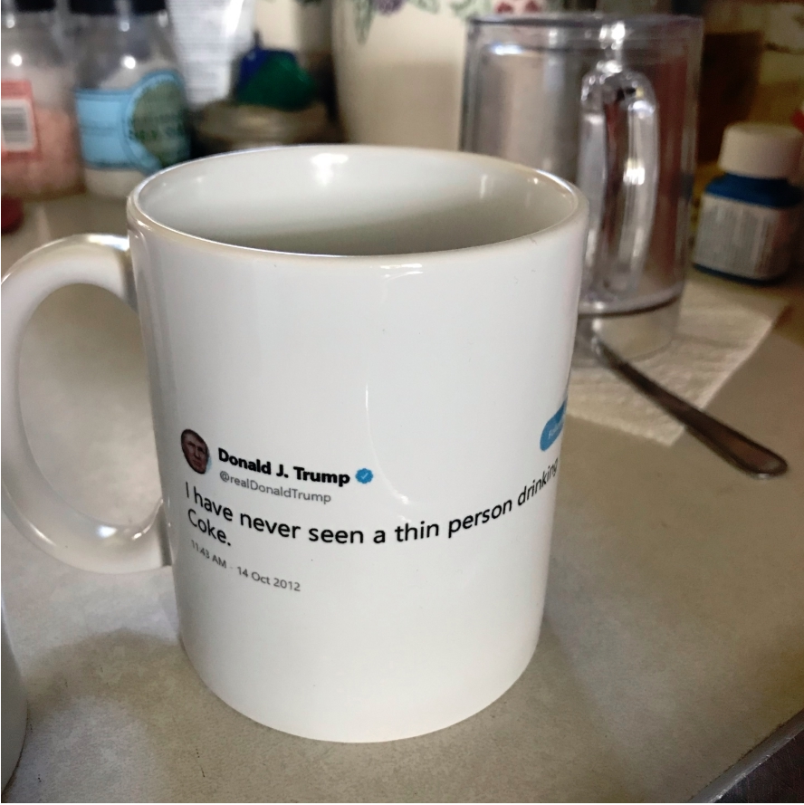 Trump Banned Mug Account Suspended Coffee Cup
