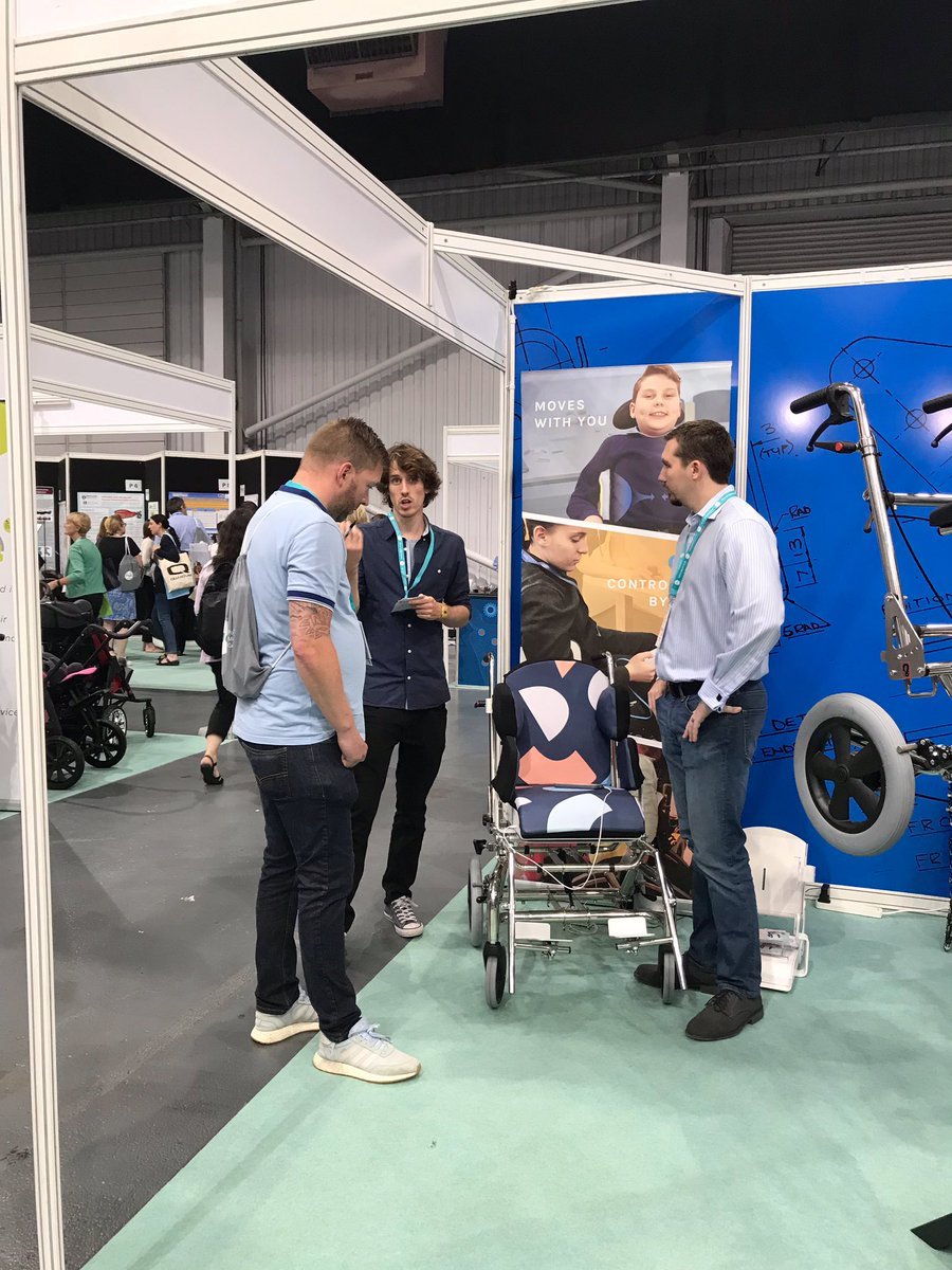 We had a great time today at @PostureMob conference meeting you all👍🏻We will be here tomorrow as well, come see us with Neo at Stand 29 😊 #pmg2019 #posture #Disability #wheelchair #designtoempower