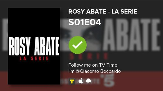 test Twitter Media - I've just watched episode S01E04 of Rosy Abate - La ...! #rosyabatelaserie  #tvtime https://t.co/iFxjX0Jzly https://t.co/PVbTK7lmYs
