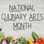 Image for the Tweet beginning: July is #NationalCulinaryArtsMonth, which recognizes