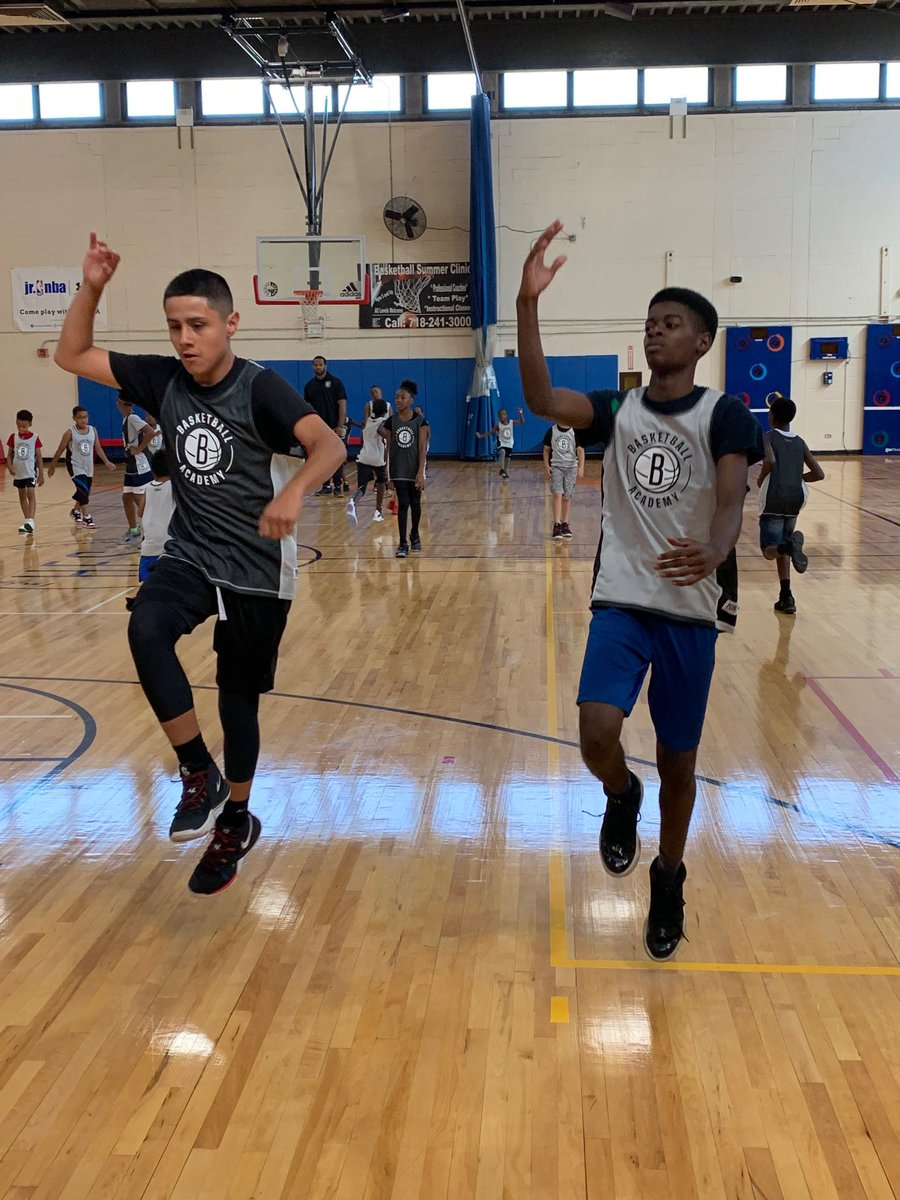 Brooklyn Nets Basketball Academy Camp is now underway. Here's a look into today's action ⬇️  Limited spots available for our remaining camps in August! Don't forget to lock in your spot!   🏀: http://nba.com/nets/basketballacademy…