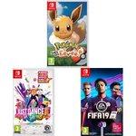 Image for the Tweet beginning: Nintendo Switch 3 Game Bundle: