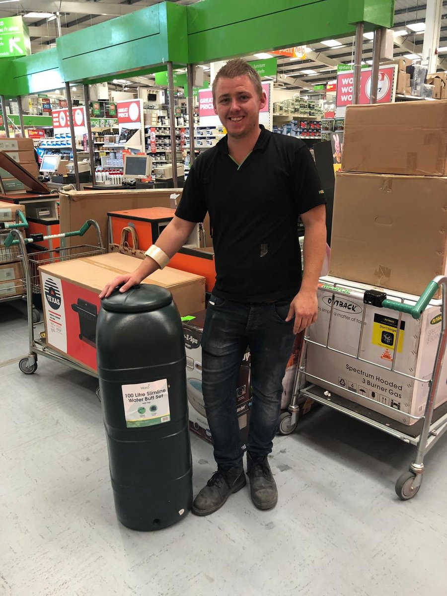 Thank you yet again to Aaron and the team at Homebase for donating a water butt to the school for our greenhouse project! https://t.co/wk2S3cyjRn