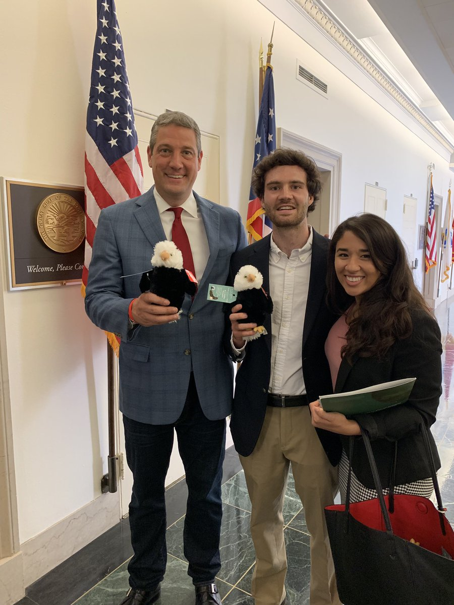 Thank you @NWF for stopping by to talk about the bipartisan Recovering America's Wildlife Act—which makes a significant investment in wildlife conservation. I just signed on to be a cosponsor of the bill. And thanks for the plush bald eagle, Brady's gonna love it.