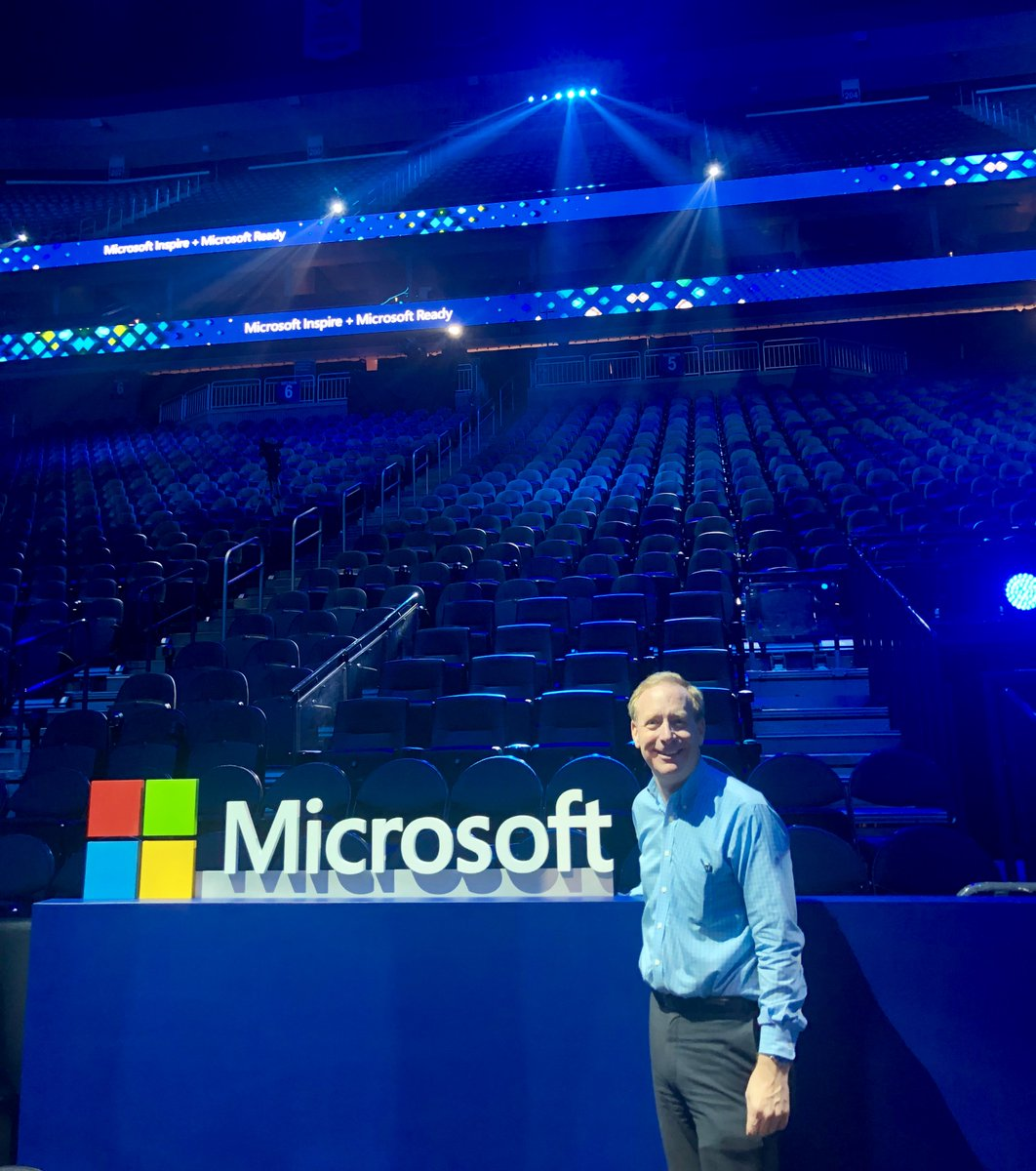 I just finished rehearsals, I'm so excited for this arena to be filled tomorrow with our partners and employees for #MSInspire and #MSReady!