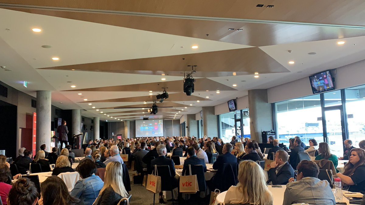 Really looking forward to the next couple days in @GeelongBella at the 2019 Vic Tourism Conference 'through disruption, we find excellence' with a record 429 delegates! Great work @VTICnews #vvtc https://t.co/3JL77hpMcM