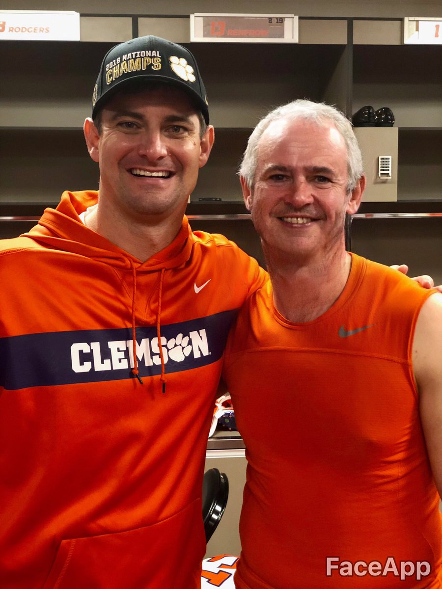 Will always remember celebrating with @renfrowhunter in the locker room in Cali after such a long career at Clemson <br>http://pic.twitter.com/QwK6wKiQJv