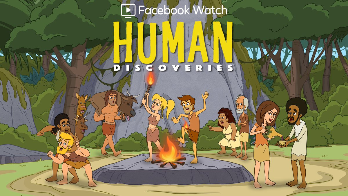 It's the dawn of a new era! Meet the friends who discovered fire, realtors, and most importantly wine. Watch the first three episodes of @HumanDiscoveries , available NOW only on Facebook Watch! 👉