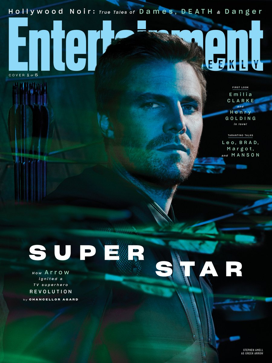 Check out Stephen Amell on @EW's first monthly issue cover! Stream #Arrow free only on The CW App, and check out the full story here: https://bit.ly/2YbVSD2