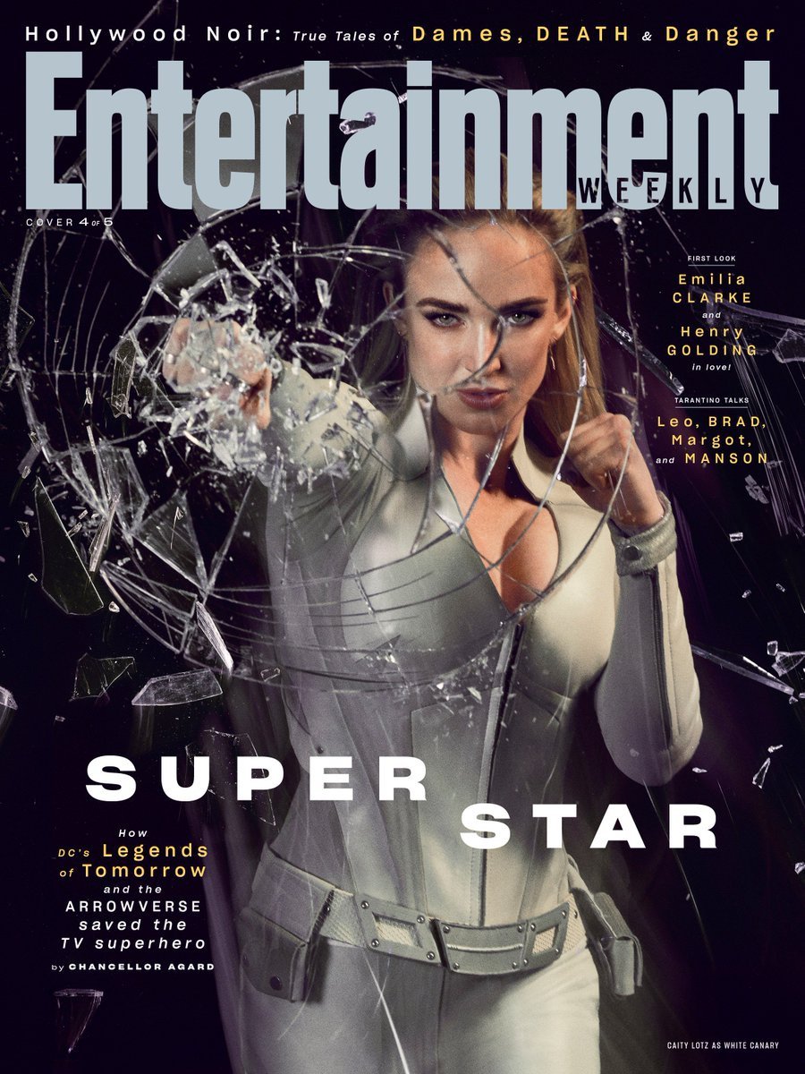 Check out Caity Lotz on @EW's first monthly issue cover! Stream DC's #LegendsOfTomorrow free only on The CW App, and check out the full story here: https://bit.ly/2XR137j