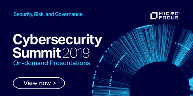 View the #MicroFocusCyberSummit sessions on Demand. View by key @MicroFocusSec areas including #AppSec, breach defense, #IAM, #Endpoint, #DataSec #SecOps, #InfoGov & #DataPrivacy.  | #SecurityandRisk http://bit.ly/2G8B9G0  #TeamMicroFocus