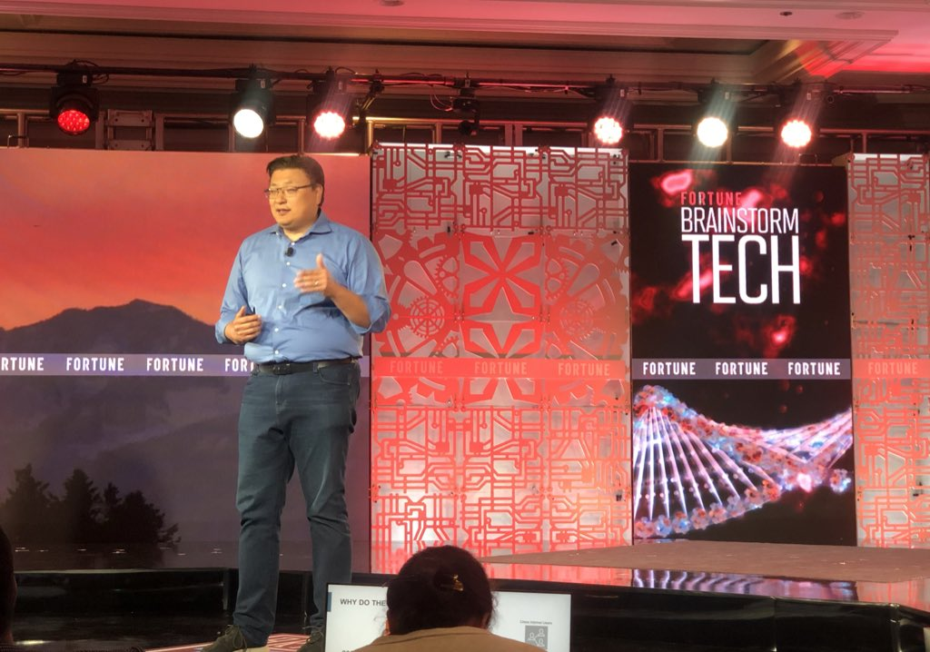 Hans Tung — Managing Partner, GGV Capital — talking at #BrainstormTech about the explosive growth of ecommerce and  @AlibabaGroup and how they are almost a half trillion dollar public company