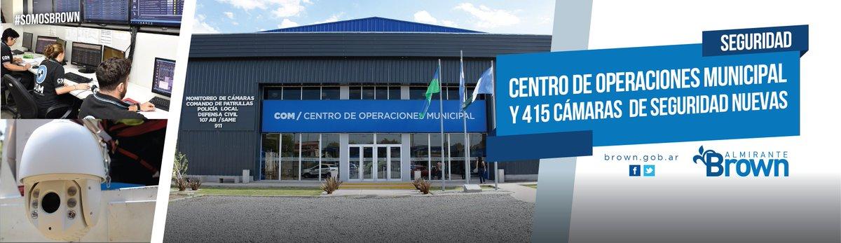 AVANZAMOS EN LA INSTALACIÓN DE CIENTOS DE CÁMARAS Y LA CREACIÓN DEL CENTRO DE OPERACIONES MUNICIPAL (COM) @CascallaresPJ  #SomosBrown