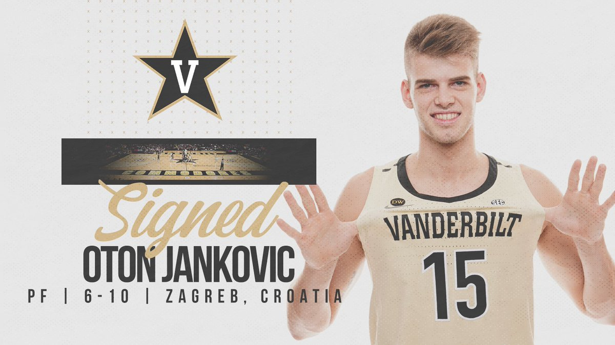 .@jerrystackhouse announces Oton Jankovic that has signed a National Letter of Intent with the Commodores.  Welcome to Vanderbilt Oton!  http://vanderbi.lt/b71wq  #AnchorDown