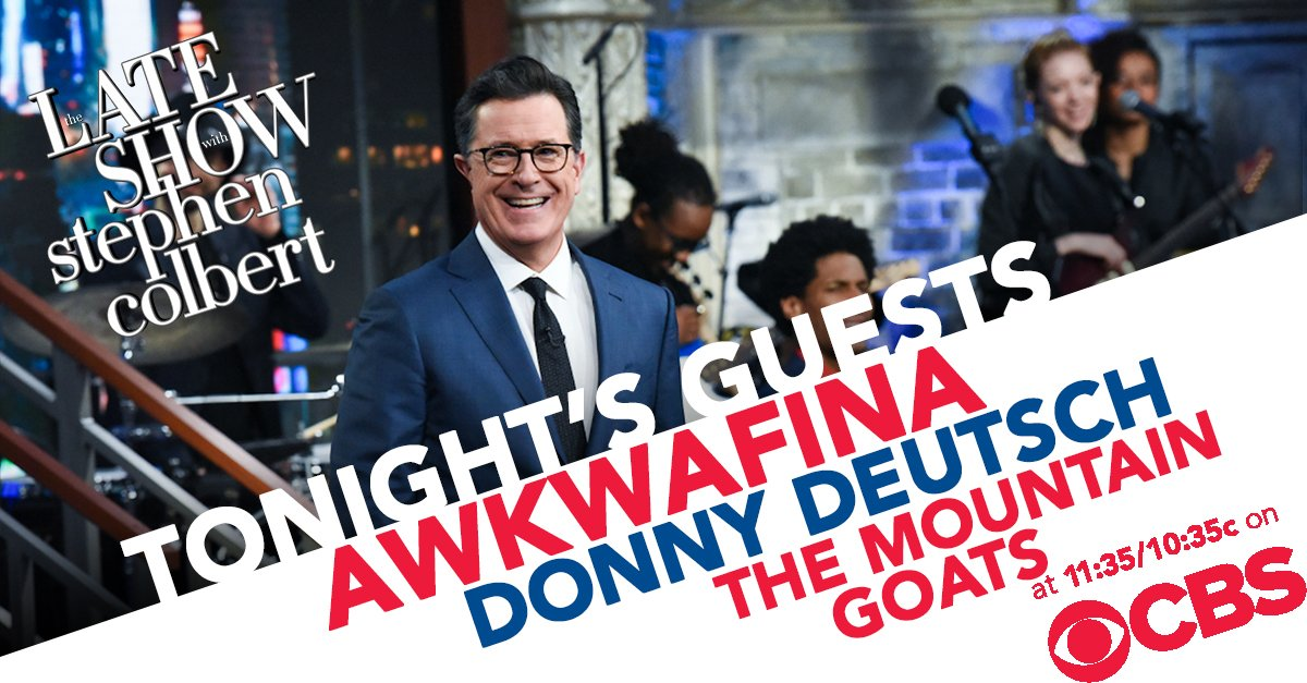 TONIGHT: The star of the new film @thefarewell, @awkwafina is here! Then the host of @SNPonMSNBC, @DonnyDeutsch stops by followed by a musical performance from the @mountain_goats! #LSSC https://t.co/hvKfTE32MM