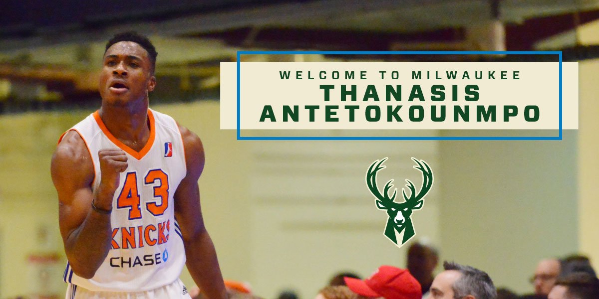 Its Official!! Welcome the newest member of the Bucks family, @Thanasis_ante43!! #FearTheDeer