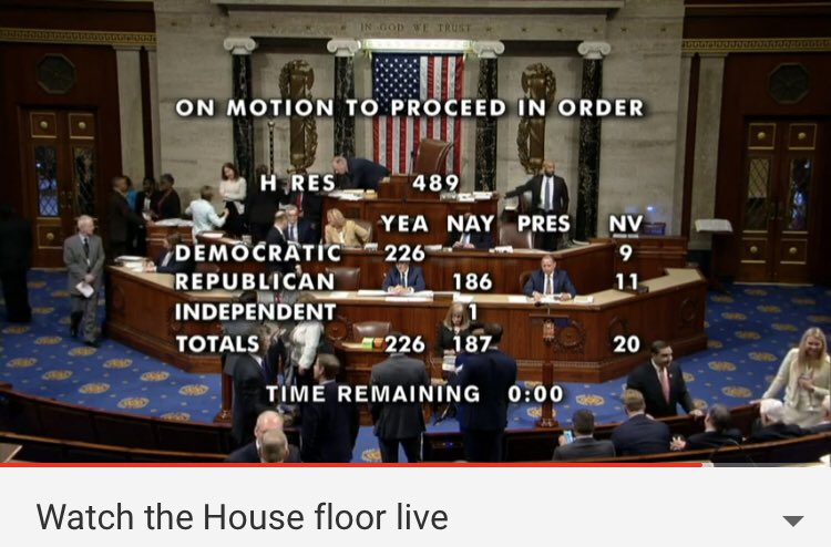 MOTION TO PROCEED! Yes @HouseDemocrats let's do this! #TrumpIsARacist #TimesUp