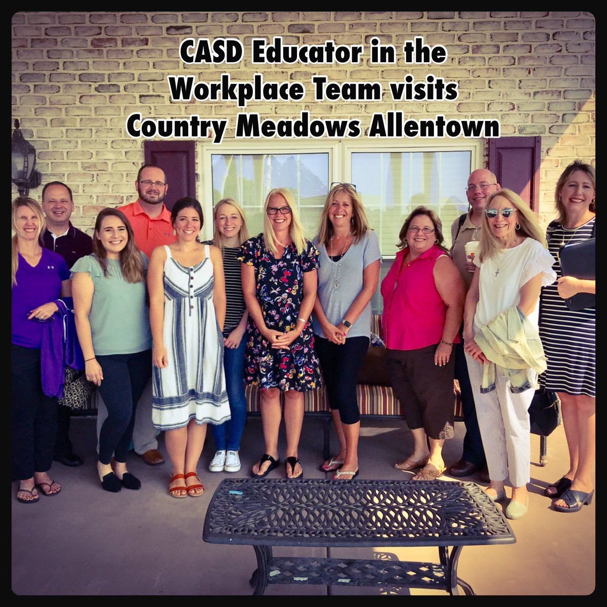 Proud to work with career education groups like this wonderful team! Thanks for choosing Country Meadows!
