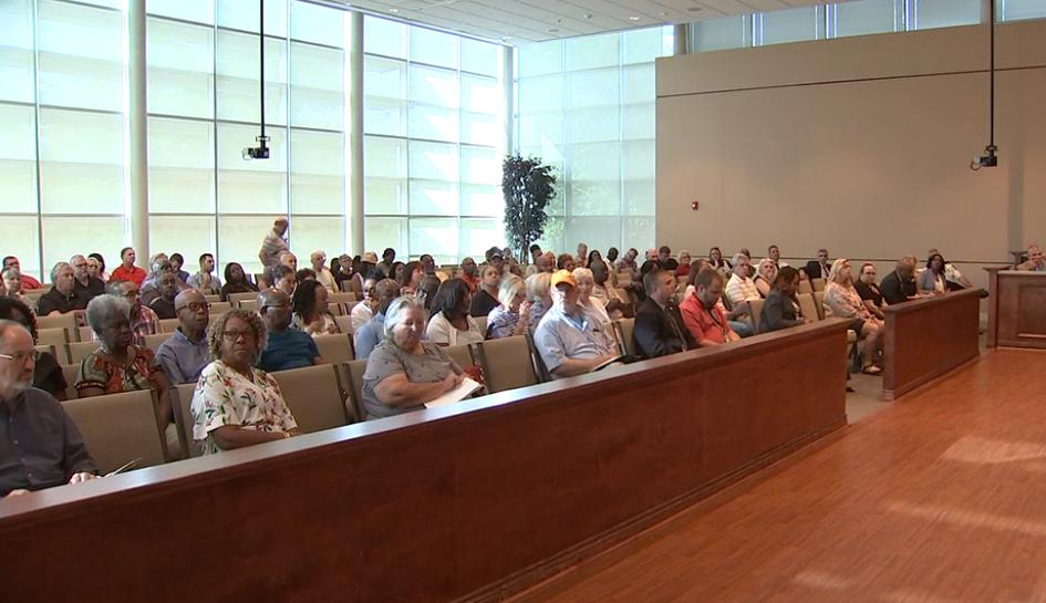 Lots of Henry County residents have showed up tonight to speak out against the proposed tax increase.